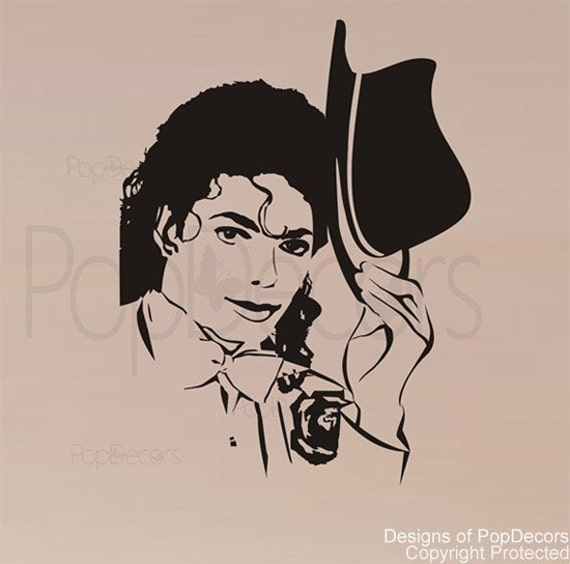 Wall Decals Pop Art : Michael jackson wall decals inch h removable vinyl