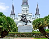 8x10 Home Sweet NOLA Jackson Square in Summer