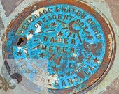 4x6 Home Sweet NOLA Famous Watermeter Cover.  Special holiday pricing. Matte included.