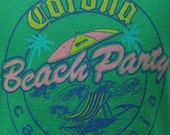 Vintage 80's Corona Beach Party California t shirt XL