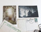 Postcard Set, Midnight Garden, Victorian inspired, Set of 8 postcards
