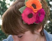 Pleasant Little Peonies Hair Clip, Eco-friendly Felt Flowers For Women, Children And Babies