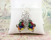 Earrings - It's a Matter of Pride Japanese Cross Chainmaille, Rainbow