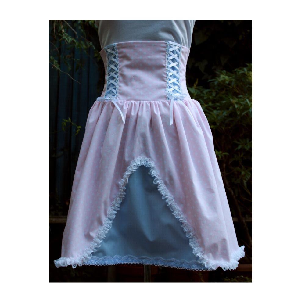 sweet jumper skirt boned high waist pastel pink