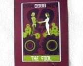"Robo Tarot: Major Arcana v6 ""The Fool version 2"" print"