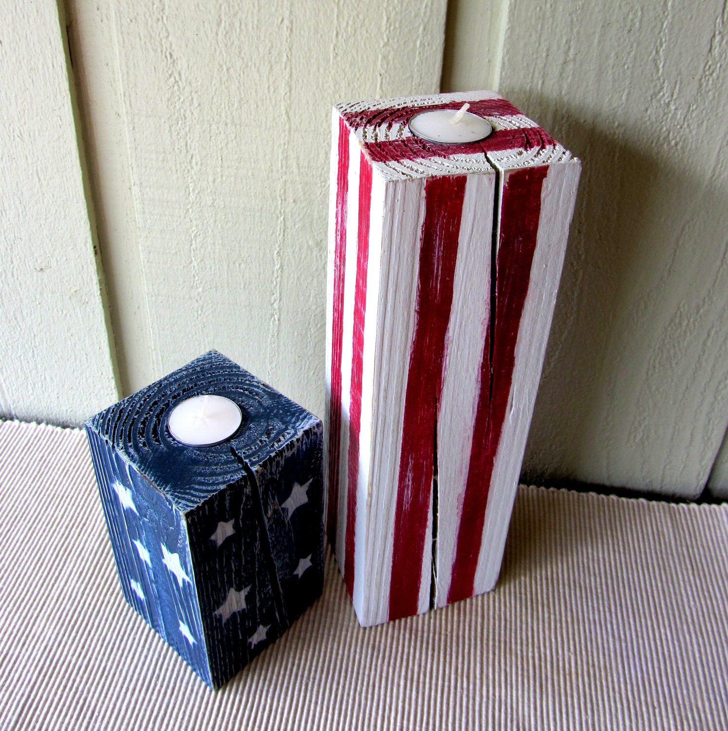 American flag candle holders july 4th decorations for American flag decoration ideas