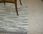 Black and Deep Forest Camp Handwoven Area Rug
