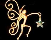 Bronze & Crystal Fairy Sun Catcher