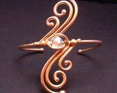 Bronze and Crystal Bracelet dsn-2