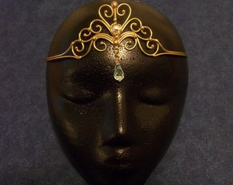Bronze Circlet with Two Crystals