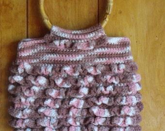 Crocheted Ruffled Purse