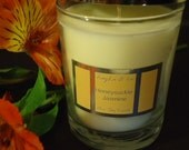 Honeysuckle Jasmine Pure SOY Candle. Sweet Floral Fragrance.
