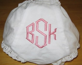Mongrammed Bloomer Diaper Cover Point Monogram Personalized Bloomer Diaper Cover Baby Shower Gift