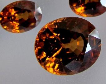 Orange Zircon Set for Pendant and Earrings 11.91 cts December Birthstone