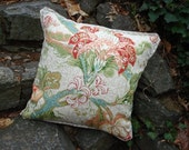 """Schumacher linen pillow cover with pleated flange - 22x22"""""""