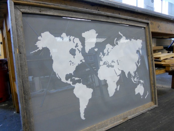 Giant Modern Map Print Poster - 24x36 - Gray and White