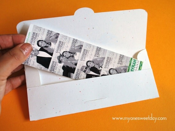 Photobooth Photo-Strip Envelopes Wedding Party Favor custom listing for Liz (lizjohnstone84)