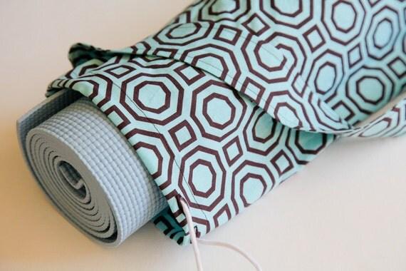 Turquoise Yoga Bag, Turquoise Yoga Mat  Bag