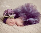 Newborn Baby Photo Prop Plum Tutu Set