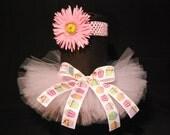 Light Pink Cupcake Spring Tutu with Matching headband & Flower