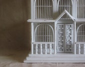 Vintage Wire and Wood Birdcage Wedding White House Shabby French Beach Cottage Decor