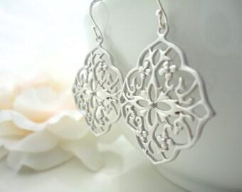 Moroccan Earrings Gypsy Jewelry Bohemian Dangle Earring Gypsy Boho Jewelry Gothic Filigree Sterling Silver Dangle Earrings