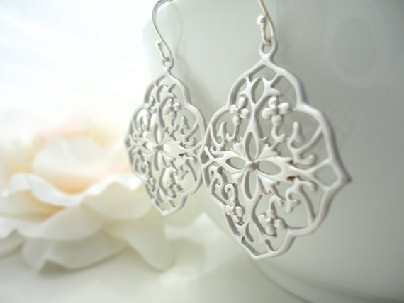 Moroccan Earrings Gypsy Jewelry Bohemian Dangle Earring Gypsy Boho Jewelry Gothic Filigree Sterling Silver Dangle Earrings