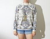 winter colors oversized aztec sweater