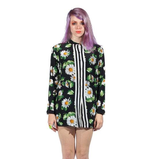 silk daisies blouse