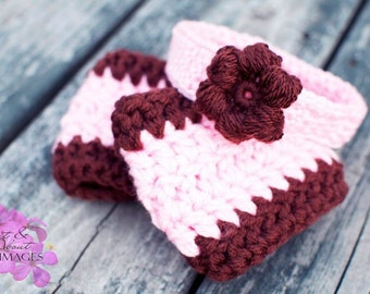 Infant Arm Warmers with Matching Hat OR Headband