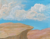 Desert Cliffside - Original Acrylic Painting