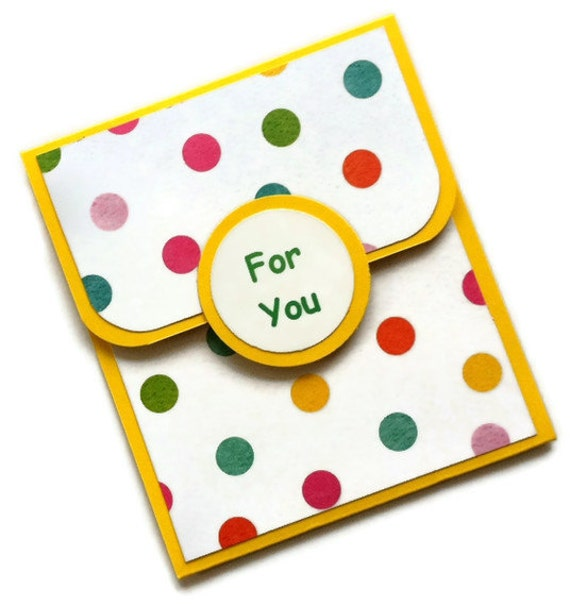 Gift Card Holder Polka Dots for Easter Birthday Spring Handmade