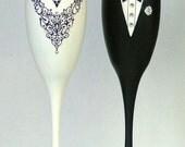Wedding or Black Tie champagne glasses
