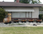 Barrel Train Planter