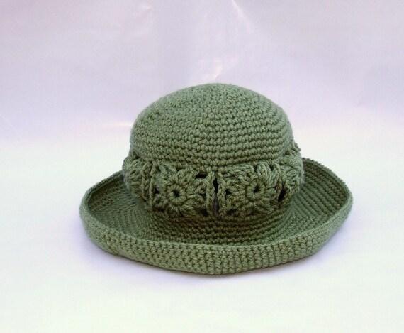 Gardening Hat Floppy Brim Crochet Sun Hat