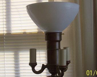 "LAMP PART - 10"" Glass Globe Diffuser for Floor Lamp w/Mogul Socket"