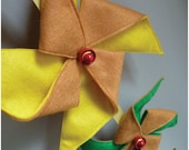 Pinwheel Mobile/Wall Hanging  Yellow and Green