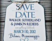 Mason Jar Save the Date (envelopes included)