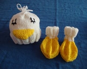 Baby Duck Hat and Booties