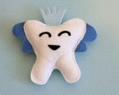 Blue Felt Tooth Fairy Pillow (Customize Your Color)