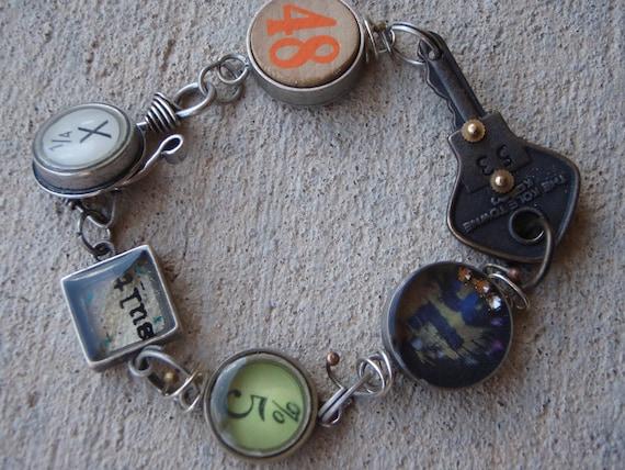 Vintage Key Charm Bracelet