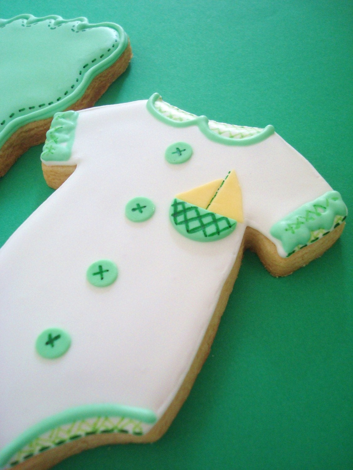 baby boy baby shower cookie favors