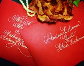 Hand Lettered Calligraphy for Wedding Invitation Envelope Addressing