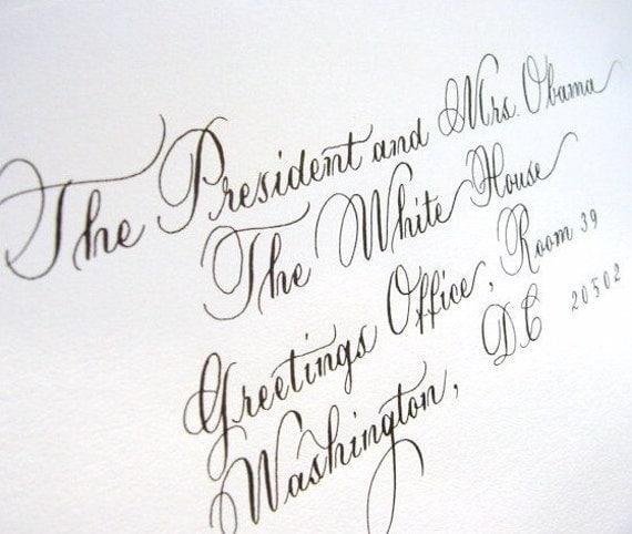 Wedding Calligraphy addressing envelopes