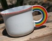 1970s Rainbow Handle Mug