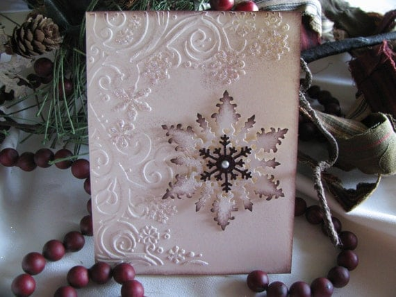 Sparkly Snowflake Cards (Set of 10)
