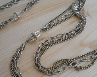 60 inch long multi chain necklace