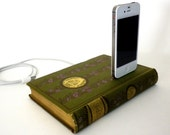 Antique Alexander Pope Poetry Book Charging Dock for iPhone and iPod