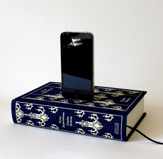 Charles Dickens Great Expectations Book Charging Dock for iPhone or Android