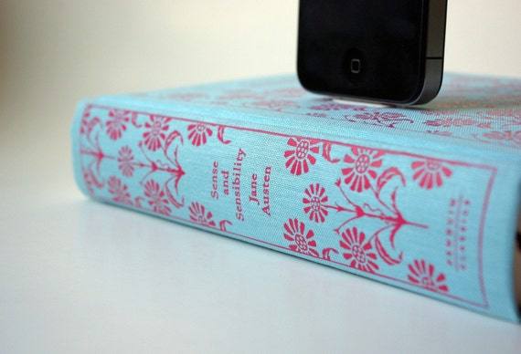 Jane Austen's Sense and Sensibility Book Charging Dock for iPhone and iPod --Christmas Delivery SOLD OUT For All Docks
